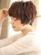 ショートマッシュ x 無造作ニュアンス(髪型ショートヘア)