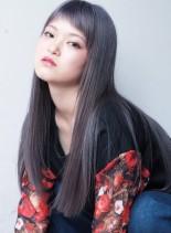 ショートバング×ロングストレート(髪型ロング)