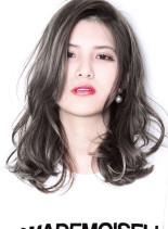 『 カット + ハーフブリーチ 』(髪型セミロング)
