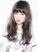 『 カット + ハーフブリーチ 』(髪型ロング)