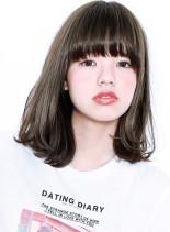 『 カット + クォーターブリーチ 』(髪型ミディアム)