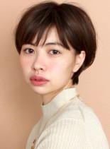 前髪あり☆大人のシンプルショート(髪型ショートヘア)