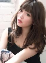 小顔カット☆透明感グレージュカラー☆(髪型セミロング)