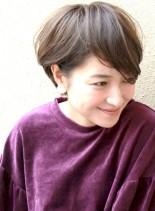 柔らかいパーマスタイル☆大人ショートヘア(髪型ショートヘア)