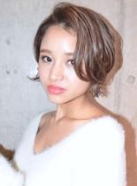 甘辛キュートショートボブ(髪型ショートヘア)