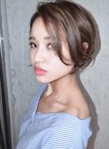 グロッシーショートボブ(髪型ショートヘア)