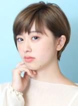 お手入れ簡単☆大人の綺麗な耳掛けショート(髪型ショートヘア)