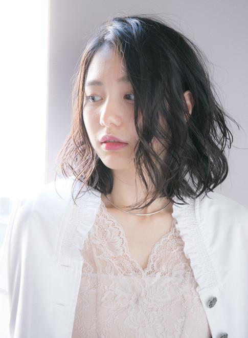 パーマ なし ミディアム 前髪 【2021年夏】ミディアム 前髪なし