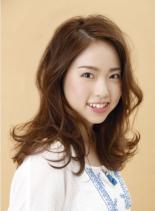 リゾートラフミディ(髪型ミディアム)