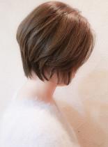 30代40代 お手入れ楽なひし形ショート(髪型ショートヘア)