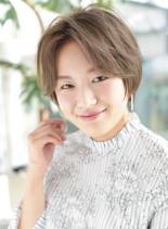 前髪長め【シルエットショート】米倉涼子風(髪型ショートヘア)