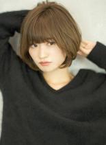 大人可愛いひし形美シルエットショートボブ(髪型ショートヘア)