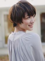 ニュアンスカール大人かわいいショートボブ(髪型ショートヘア)