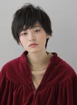ナチュラルニュアンスショート(髪型ショートヘア)