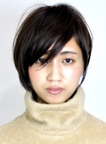 ふんわりシルエットの似合わせショートボブ(髪型ショートヘア)