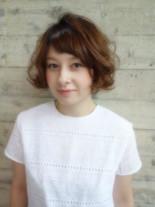 前髪あり!大人可愛いショートボブ(髪型ショートヘア)