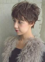 くせ毛風キュートマニッシュショート(髪型ショートヘア)