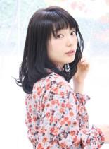 大人ワンカールスタイル(髪型セミロング)