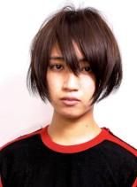 アニメのような毛束感のボーイッシュボブ(髪型ショートヘア)