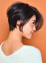 30代~首が綺麗に見える小顔ショートヘア(髪型ショートヘア)