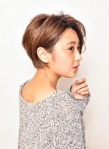 大人可愛いマニッシュショート(髪型ショートヘア)