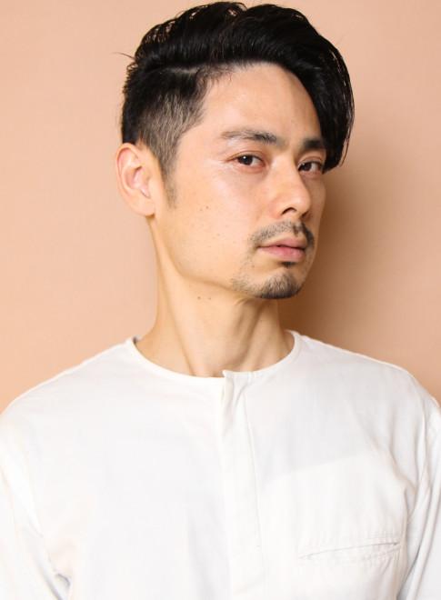 フレンチクールトラッド スライドカット(髪型メンズ)
