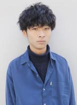 ナミウェーブツイストマッシュ(髪型メンズ)