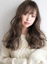 外国人風グレージュ☆ラフカールロング(髪型ロング)