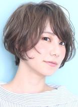 ソフトパーマショートボブ*bobhair(髪型ショートヘア)
