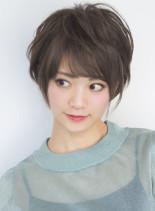 大人向けショートパーマ(髪型ショートヘア)