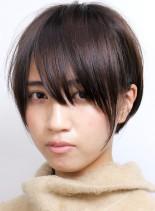 切りっぱなしふんわりショート(髪型ショートヘア)