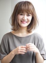 30代♪艶カラーの大人カジュアルミディ(髪型ミディアム)