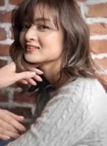 イルミナカラー小顔カット(髪型セミロング)
