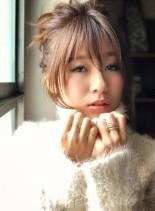 アレンジ簡単前髪☆(髪型ロング)
