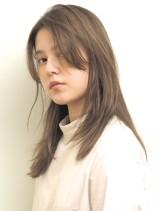 透明感カラー*小顔ミディアム(髪型セミロング)