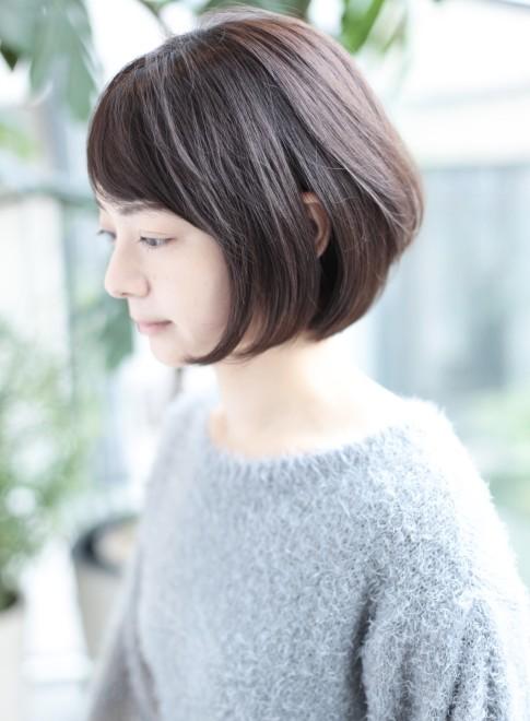 30、40代似合う髪型◎丸顔◎ボブ☆(髪型ボブ)