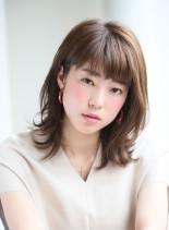 抜け感ナチュラルミディ(髪型ミディアム)