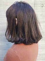 チャコールグレーボブ(髪型ボブ)