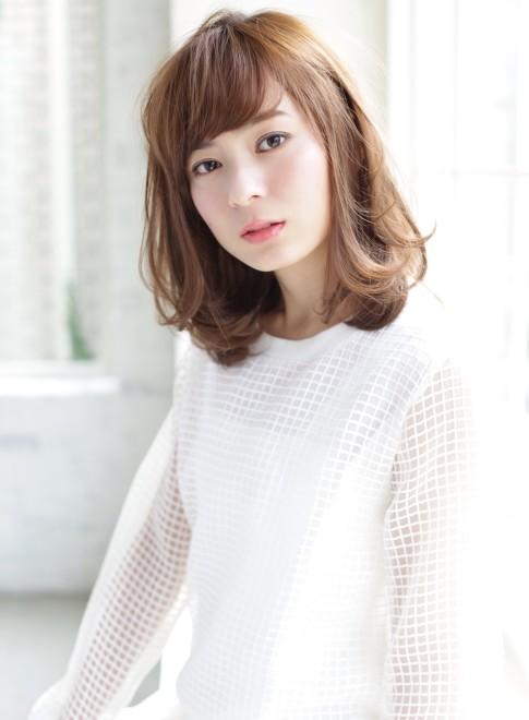 30、40代似合う髪型◎丸顔◎ミディアム(髪型ミディアム)(