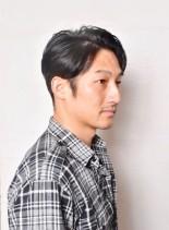 大人のONとOFF(髪型メンズ)