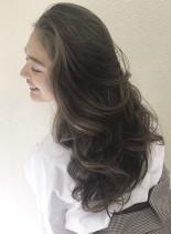 地毛を活かした日本人の為のブレンドカラー(髪型ロング)