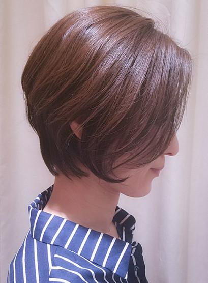 40代50代お手入れが簡単なショートボブ(髪型ショートヘア)