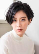 大人な骨格美フレンチリラックスショート(髪型ショートヘア)