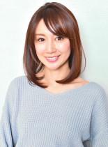 【お手入れ簡単】大人のロブスタイル(髪型ミディアム)