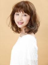 ライトシフォンミディ(髪型ミディアム)