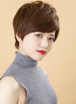 ナチュラルショート(髪型ショートヘア)