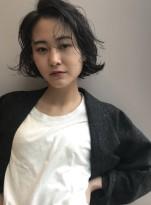 【吉田有花】ウェーブミニボブパーマ