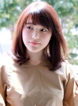 30代40代女性に似合うナチュラルミディ(髪型ミディアム)