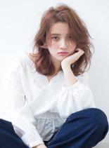 束感レイヤー(髪型ミディアム)