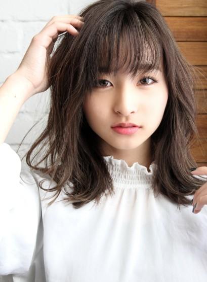 イルミナカラー☆石原さとみ風(髪型セミロング)